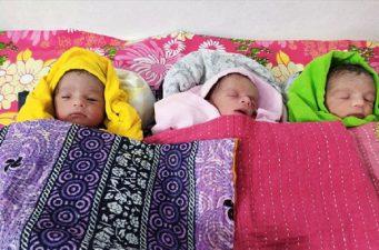 একসঙ্গে তিন সন্তান প্রসব করলেন পাবনার জেসিকা