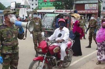 ঝিনাইদহে করোনার সংক্রমণ ঠেকাতে সেনাবাহিনীর টহল