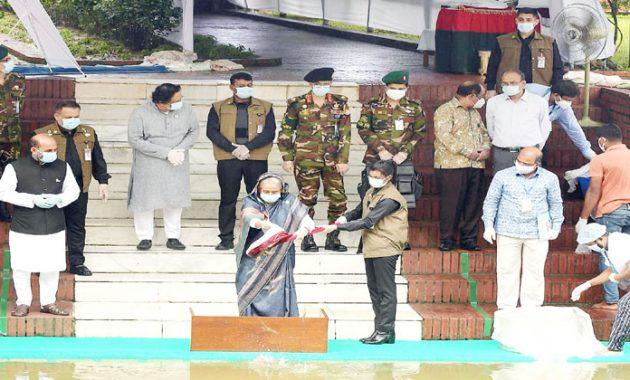 জাতীয় মৎস্য সপ্তাহ-২০২০ এর উদ্বোধন করছেন প্রধানমন্ত্রী শেখ হাসিনা