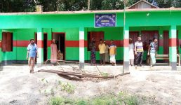 বাউফলে পরের মালে বিদ্যালয়ের নির্মাণ কাজ! বরাদ্দের টাকা লোপাট!